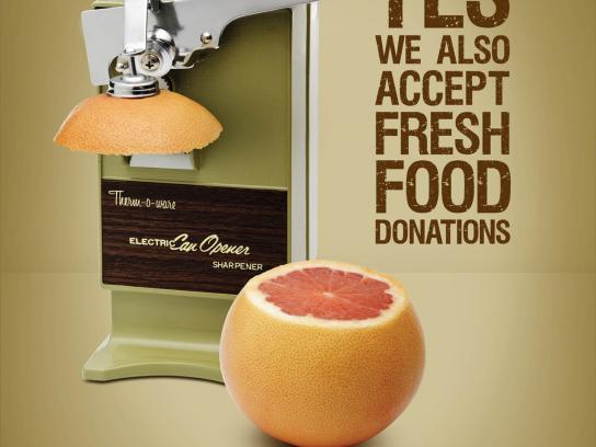 Calgary Food Bank Print Ad -  Grapefruit