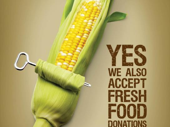Calgary Food Bank Print Ad -  Corn