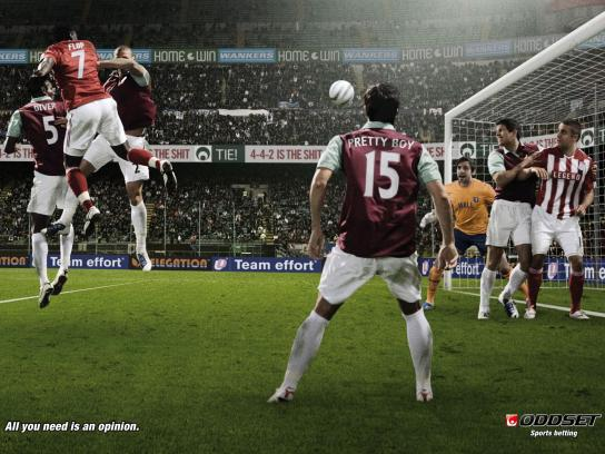 Oddset Print Ad -  All You Need Is an Opinion, Football