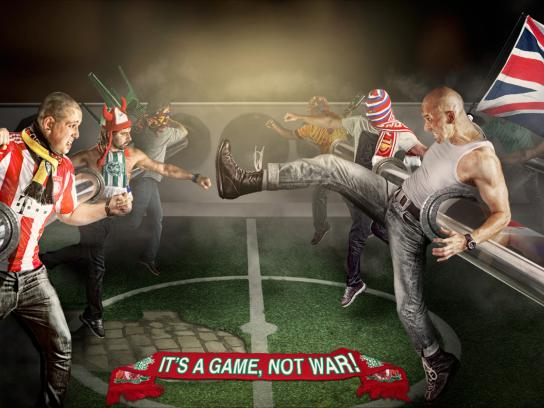 UEFA Print Ad -  It's a Game, Not War