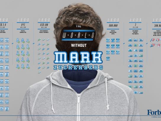 Forbes Print Ad -  Billionaires, Mark Zuckerberg