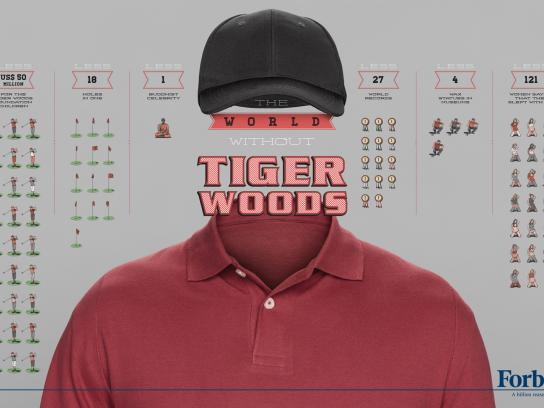 Forbes Print Ad -  Billionaires, Tiger Woods