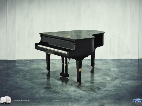 Ford Print Ad -  Hinges Campaign, Piano
