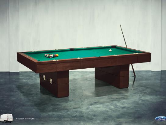 Ford Print Ad -  Hinges Campaign, Pool Table