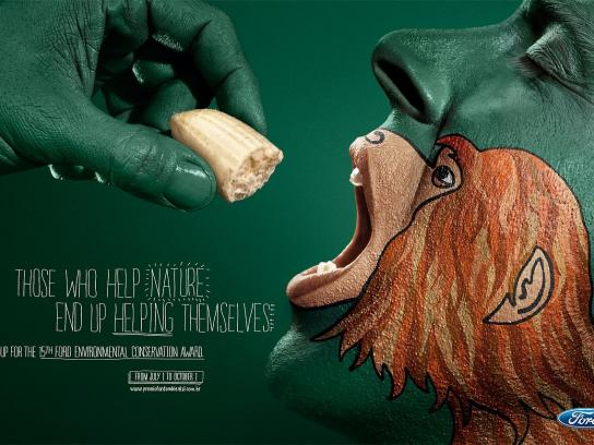 Ford Print Ad -  Monkey