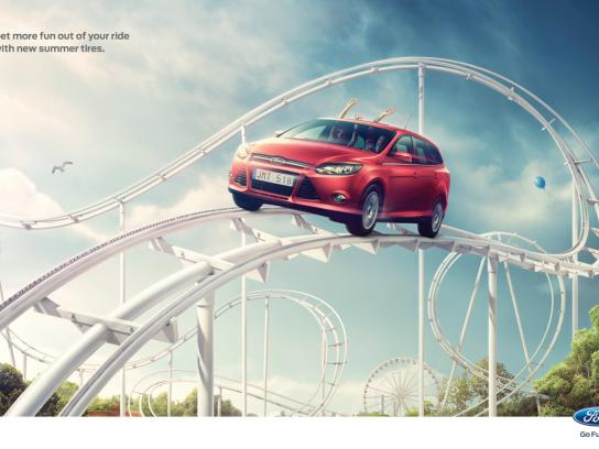 Ford Print Ad -  Rollercoaster