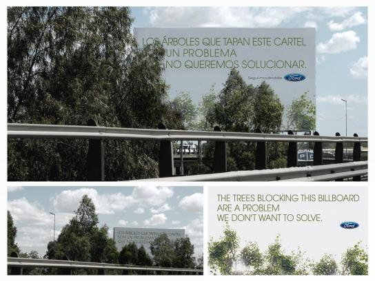 Ford Outdoor Ad -  Trees