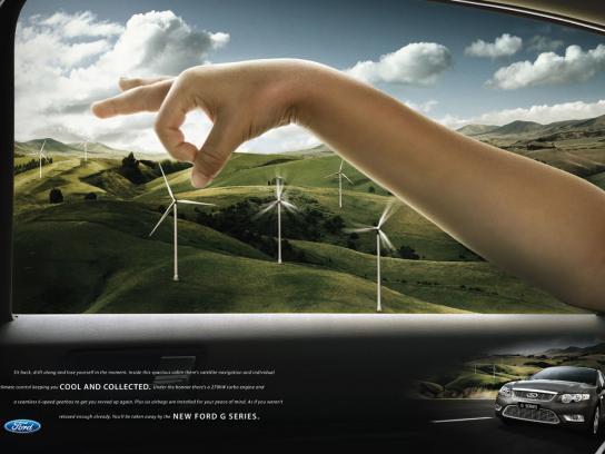 Ford Print Ad -  Windmills