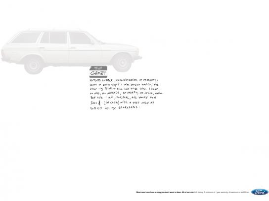 Ford Print Ad -  Ghost