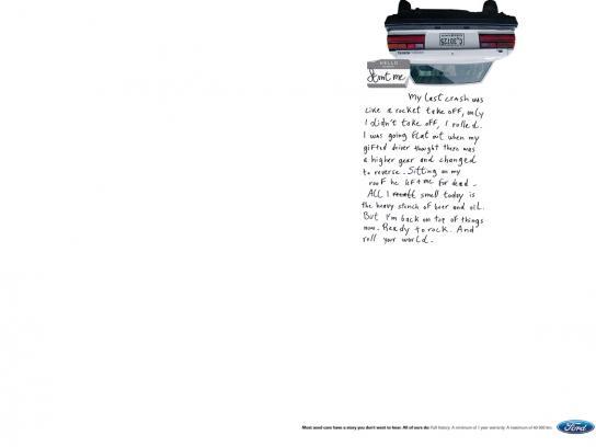 Ford Print Ad -  Stunt me