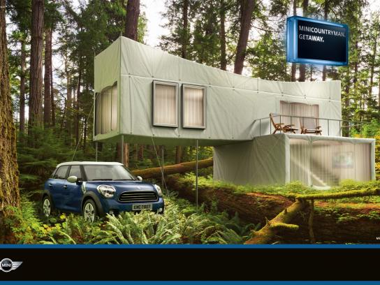 Mini Print Ad -  Hut Forest