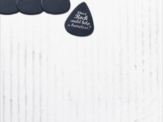 Fondation Abbé Pierre Print Ad -  Rock