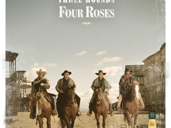 Four Roses Bourbon Print Ad -  Rounds