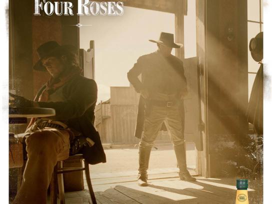 Four Roses Bourbon Print Ad -  Straights
