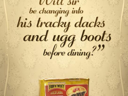 Four'n Twenty Print Ad -  Tracky dacks
