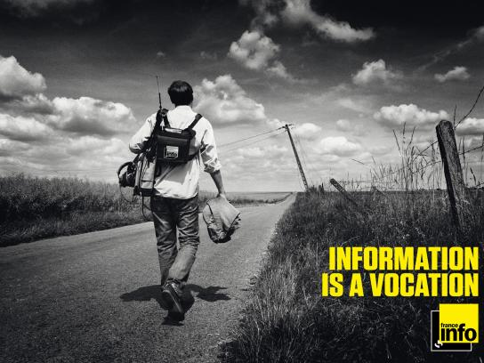 France Info Print Ad -  Information is a vocation, 1