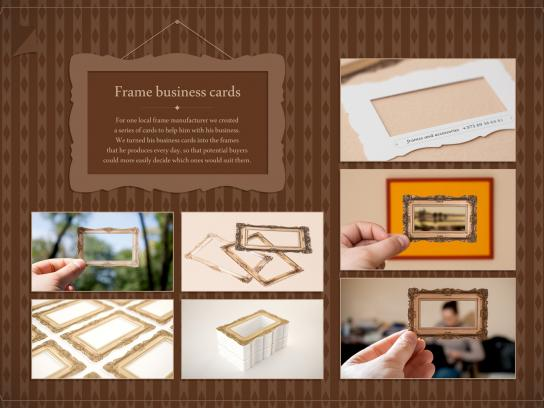 Frame and Accessories Direct Ad -  Business Card