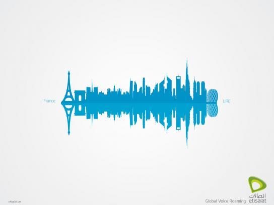 Etisalat Print Ad -  Global Voice Roaming, France