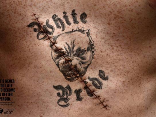 France ADOT Print Ad -  White pride