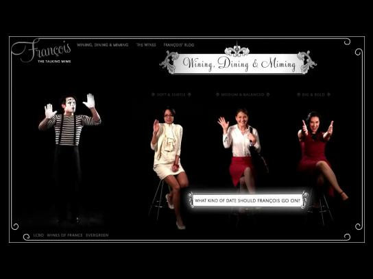Wines of France Digital Ad -  Francois The Talking Mime