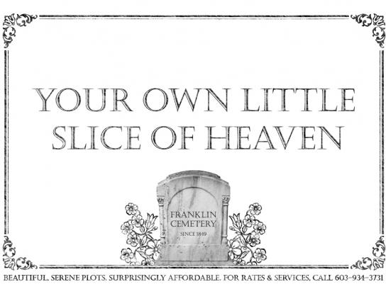 Franklin Cemetery Print Ad -  Heaven