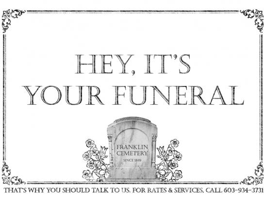 Franklin Cemetery Print Ad -  Funeral
