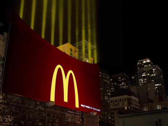 McDonald's Outdoor Ad -  Fry lights