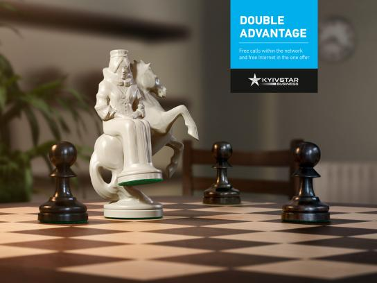 Kyivstar Print Ad -  Double chess