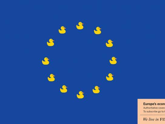 Financial Times Print Ad -  Ducks
