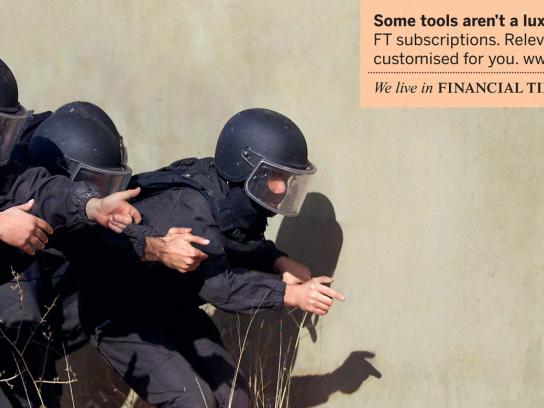 Financial Times Print Ad -  Essential, SWAT