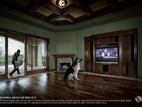 FTC Vision Print Ad -  Burglar