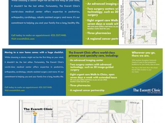 The Everett Clinic Direct Ad -  Bing-map adaped direct mail