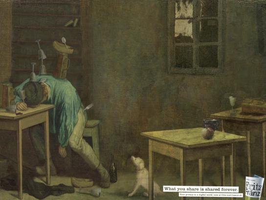 Fritz + Fraenzi Print Ad -  Painting