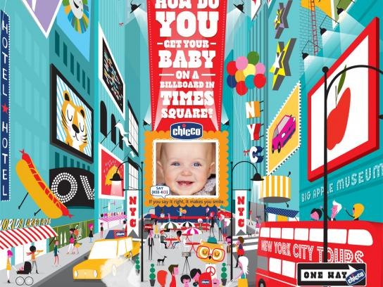Chicco Print Ad -  Times Square