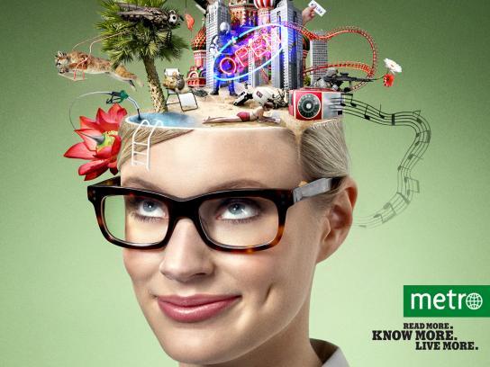 Metro Print Ad -  Experience, 2