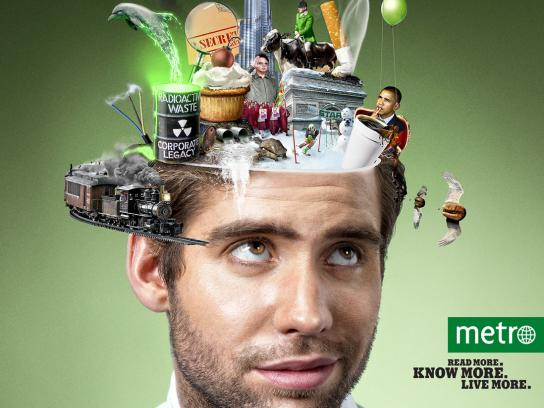 Metro Print Ad -  Experience, 3