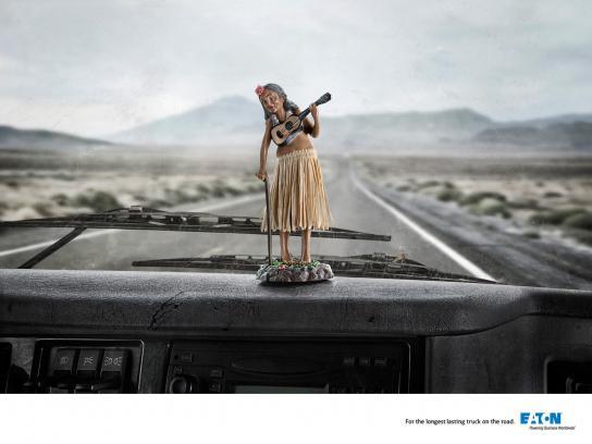 Eaton Print Ad -  Hula girl