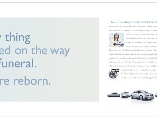 SAAB Print Ad -  Funeral