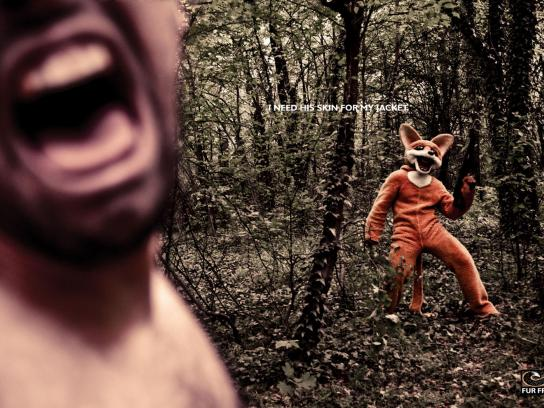 Fur Free Print Ad -  Angry fox, 3