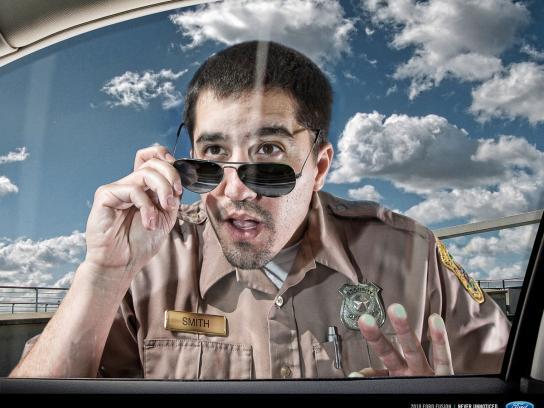 Ford Print Ad -  Policeman