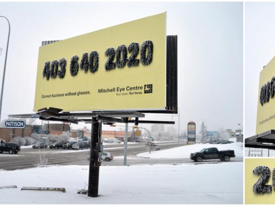 Mitchell Eye Centre Outdoor Ad -  Fuzzy Billboard