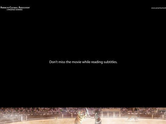 American Cultural Associations Of Language Schools Print Ad -  Subtitles
