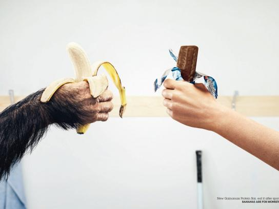 Gainomax Print Ad -  Bananas are for monkeys!