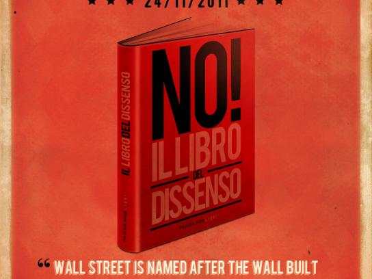 Fandango Libri Print Ad -  The book of dissent, Eduardo Galeano