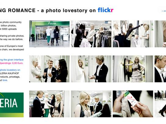 Galeria Kaufhof Digital Ad -  A photo lovestory on Flickr