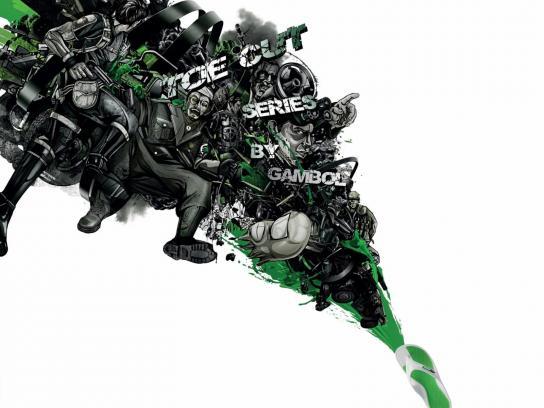 Gambol Print Ad -  Green