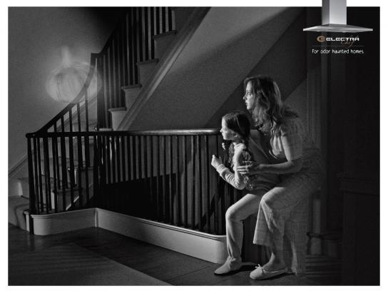 Electra Print Ad -  Haunted homes, Garlic