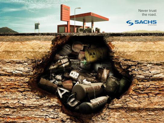 Sachs Print Ad -  Gas Station