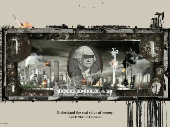 Gazeta Mercantil Print Ad -  Dollar