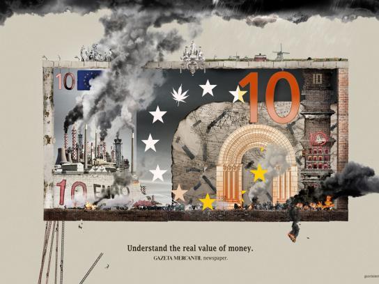 Gazeta Mercantil Print Ad -  Euro